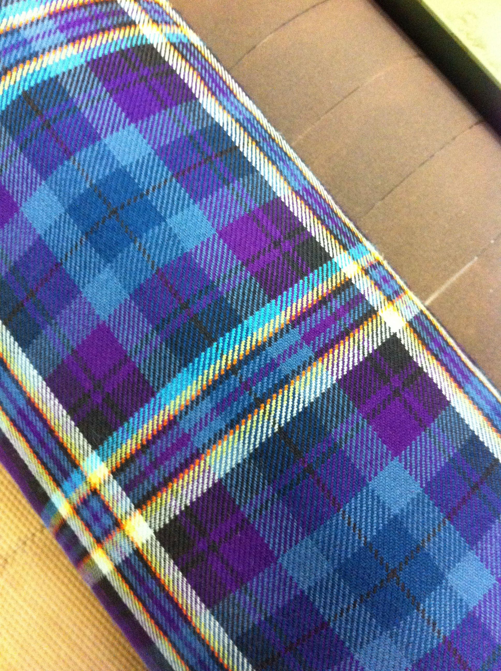 Beautiful new tartan for Houston Kiltmakers in Paisley