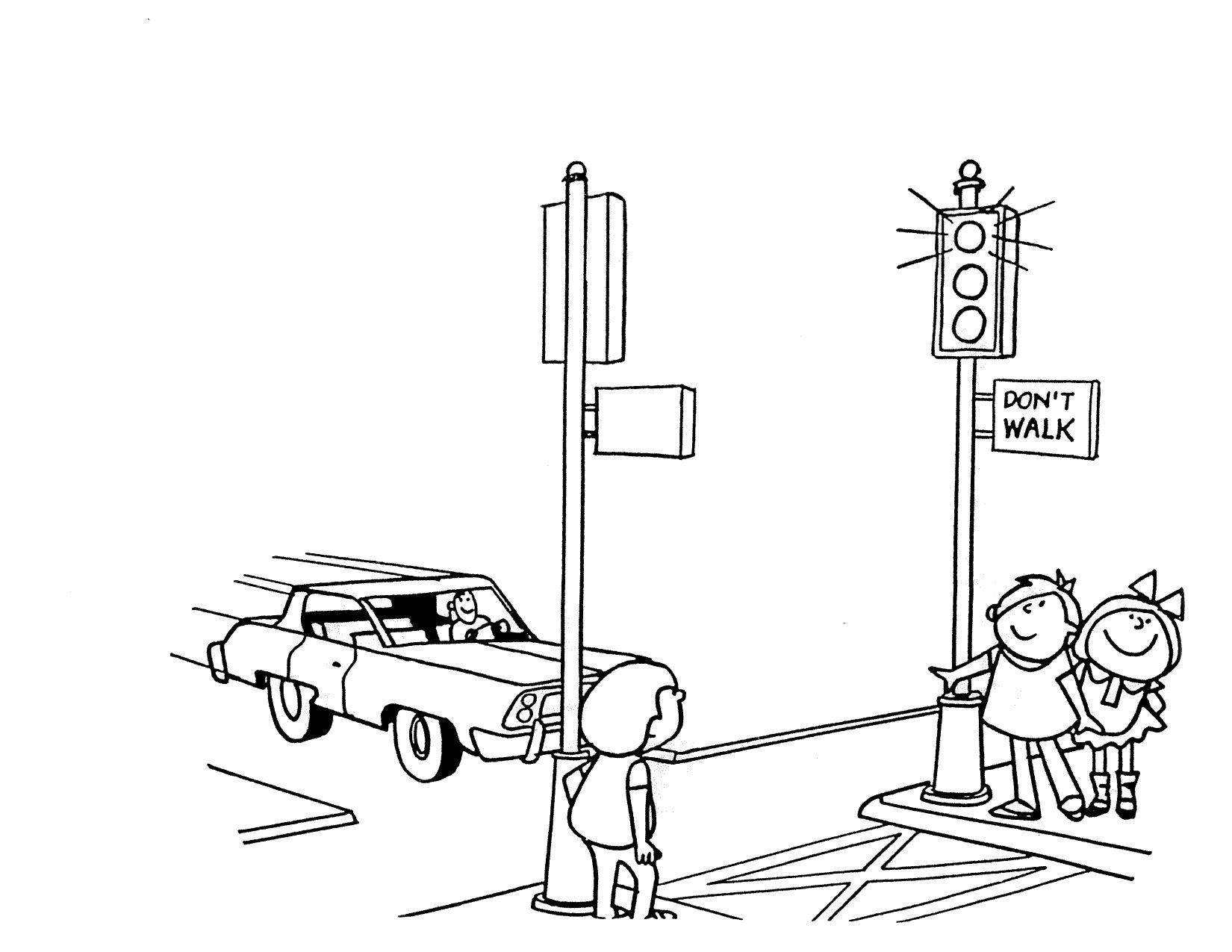 Safety With A View Used Before Crossing Road Coloring Pages For Kids E4t Printable Health Safety Coloring Pages For Kids
