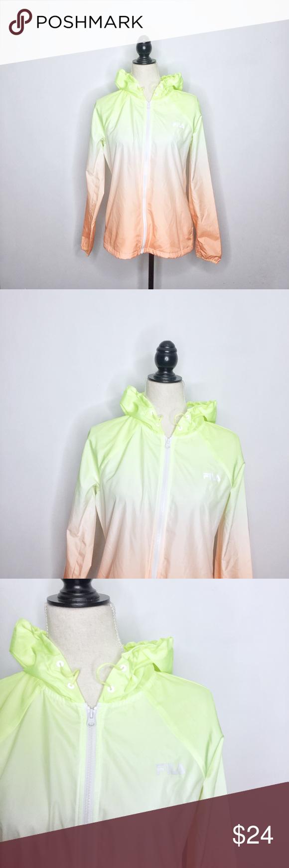 e4278fef3d5f FILA Ombré Hooded Woven Windbreaker Zip Jacket FILA Sport. Size Small. Ombré  Hooded Woven