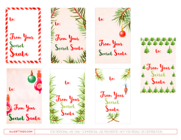 It is a photo of Clever Secret Santa Gift Tags Printable Free