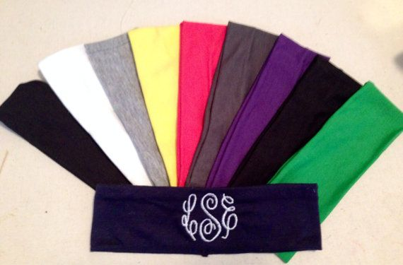 Monogrammed Headbands by BergHome on Etsy