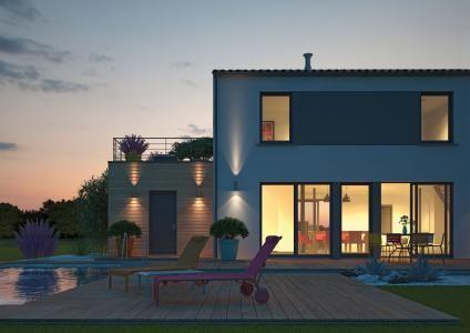 Modèle et plan de maison Volume etage avec ou sans garage par le