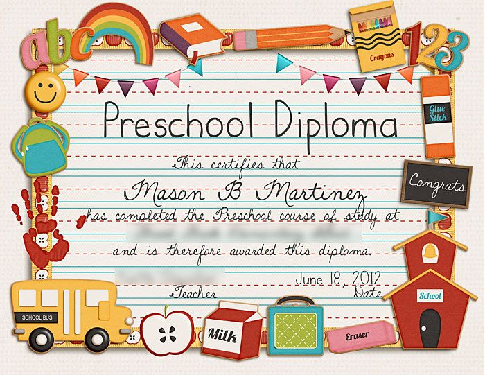 Certificate Template For Kids Editable free diploma certificate ppt - copy pre kindergarten certificate printable