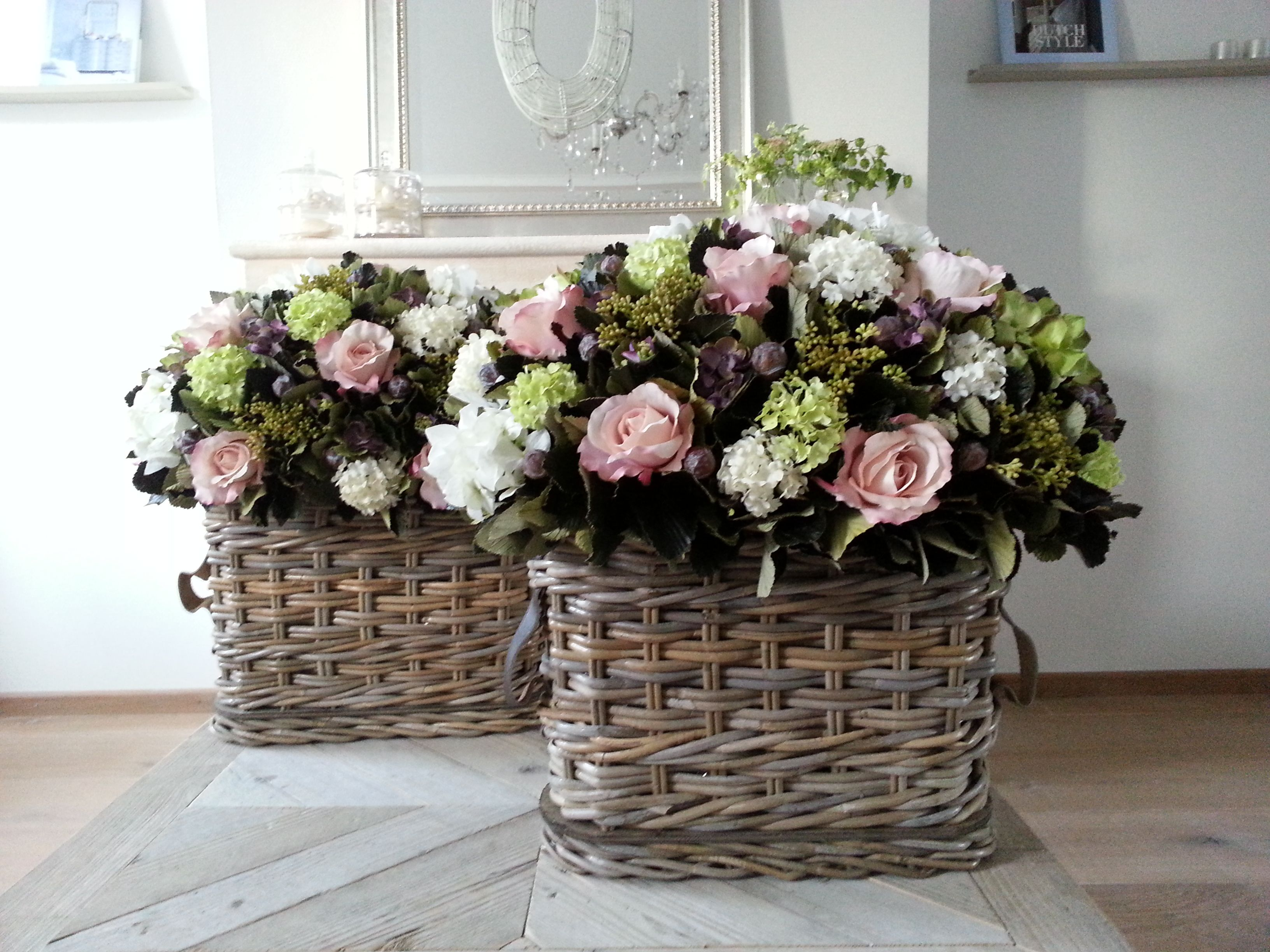 Set Of 2 Centerpieces With Silk Flowers By Elisense Gardening