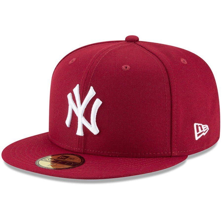Men S New York Yankees New Era Crimson Fashion Color Basic 59fifty Fitted Hat 33 99 Gorras Snapback Gorras Snapback