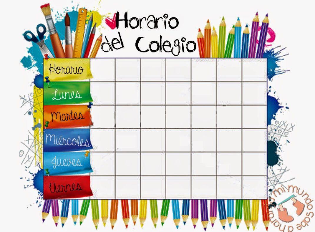 Horario Escolar Buscar Con Google School Timetable School Schedule Schedule Template