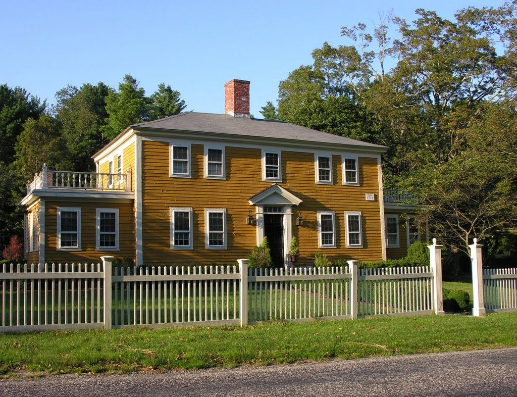 Sherborn colonial farmhouse. Second story sideporch ftw