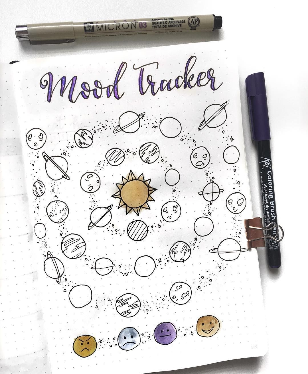 47 out of this world galaxy and space themed bullet journal spreads my inner creative