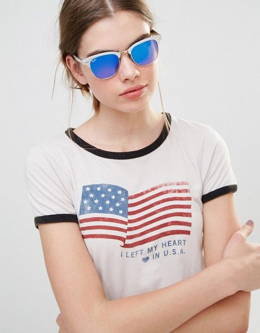 9fc14211c99 ... buy ray ban ray ban clubmaster sunglasses with ombre blue lens and  silver frame b5803 c5904