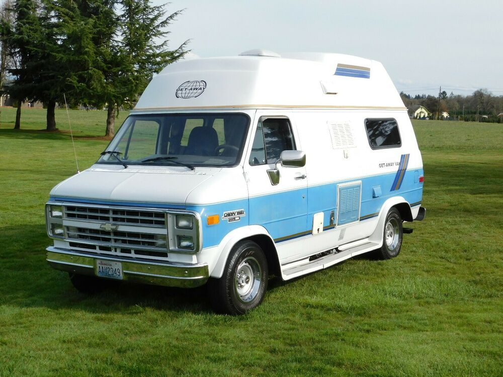 Feul Injection 87 Chevy Camper Van Get Away Class B Very Clean