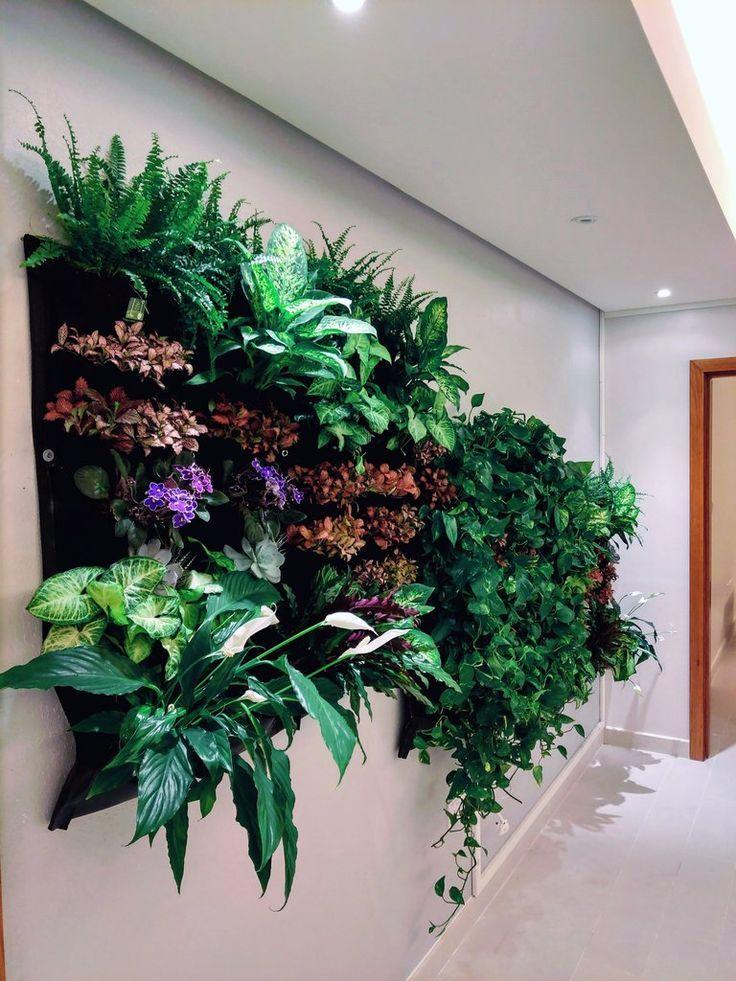 12 pocket indoor waterproof vertical living wall planter on indoor vertical garden wall diy id=49011