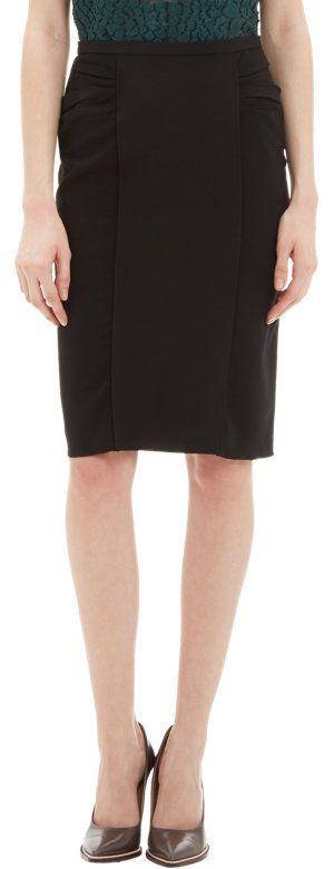 Nina Ricci Ruched Pencil Skirt at Barneys.com