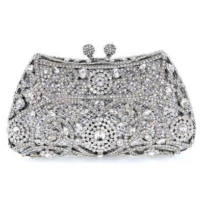 Womens Crystal Clutch Bag Beaded Designer Bridal Evening Prom Party Wedding Purse