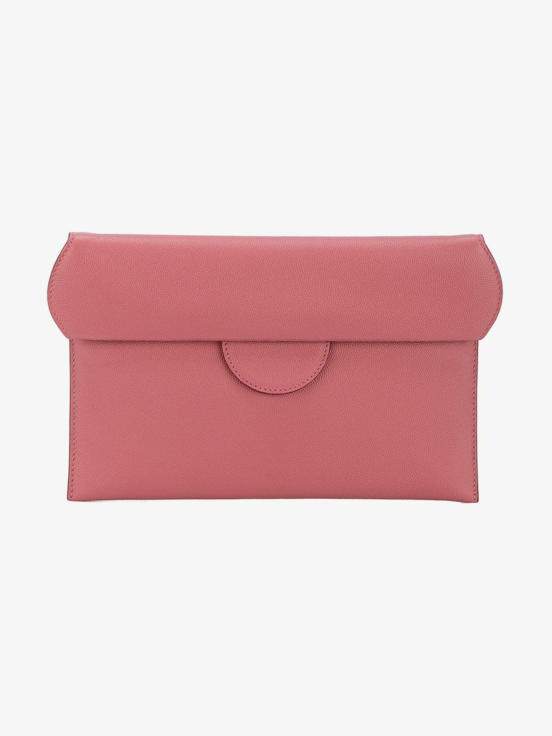 Roksanda Leather fold-over clutch bag