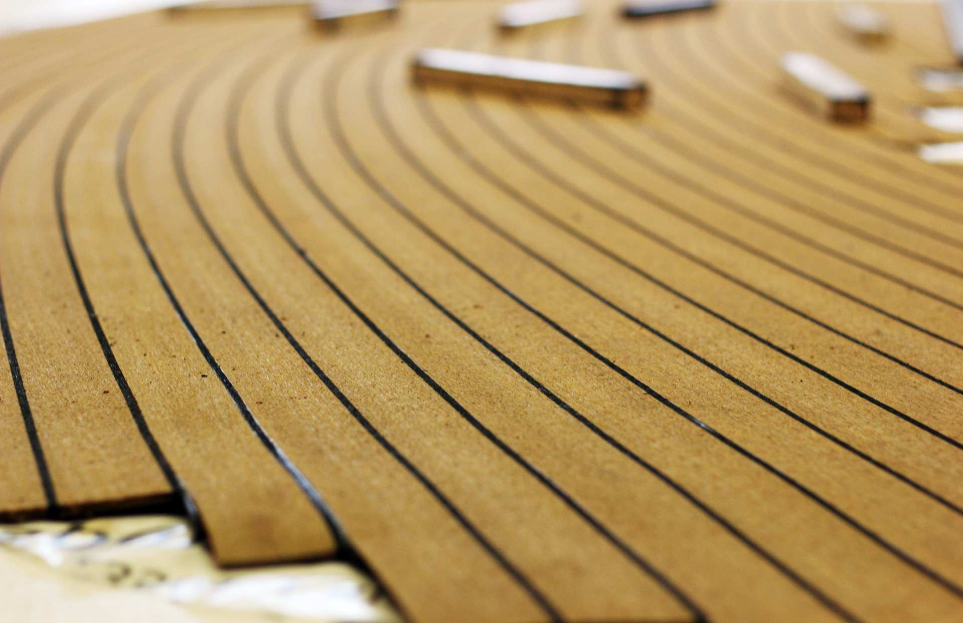 Vinyl Imitation Teak Boat Decking Bahrain Decking