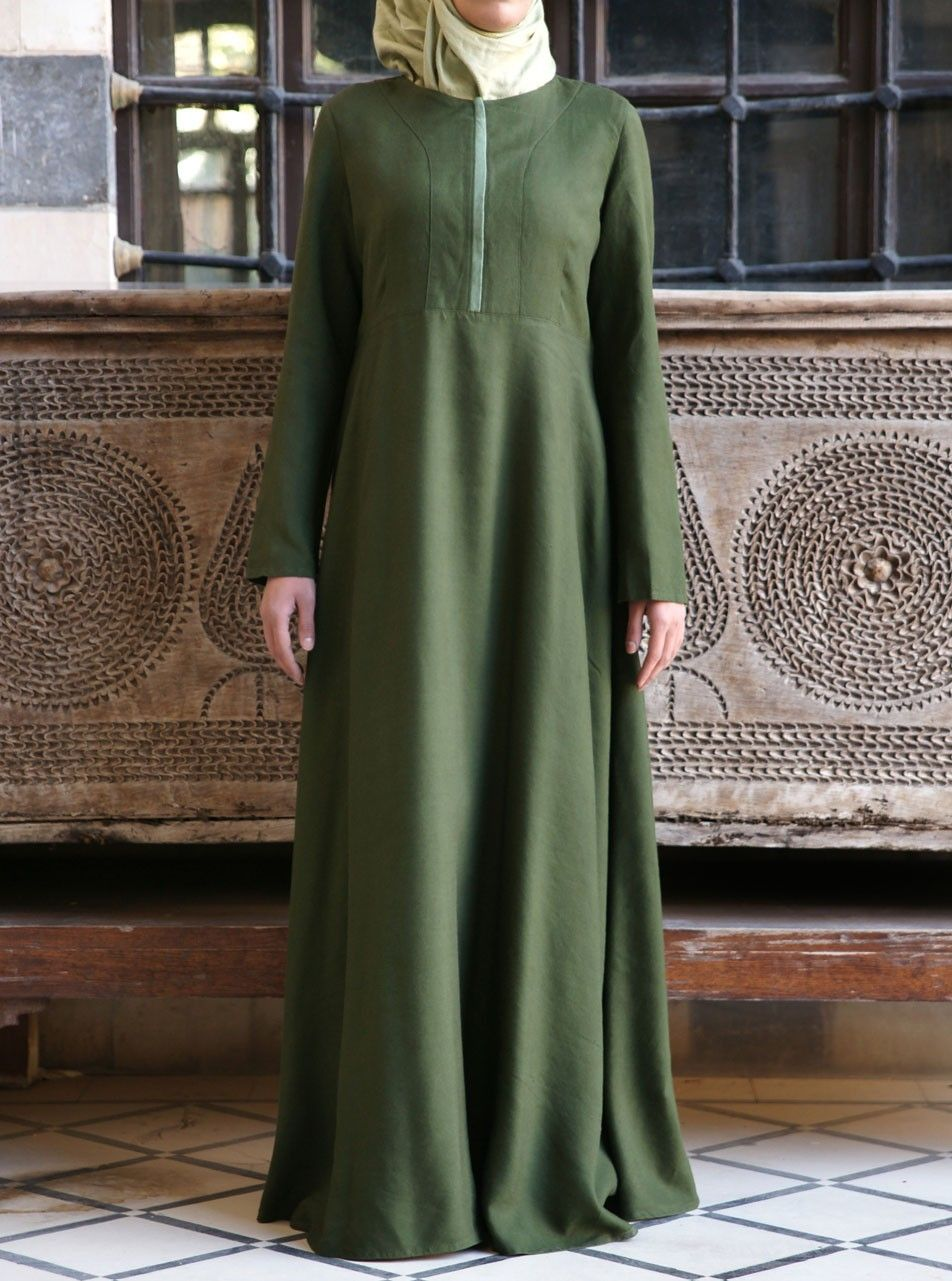 Linen Zip Opening Abaya  Open abaya, Islamic clothing, Style maxi