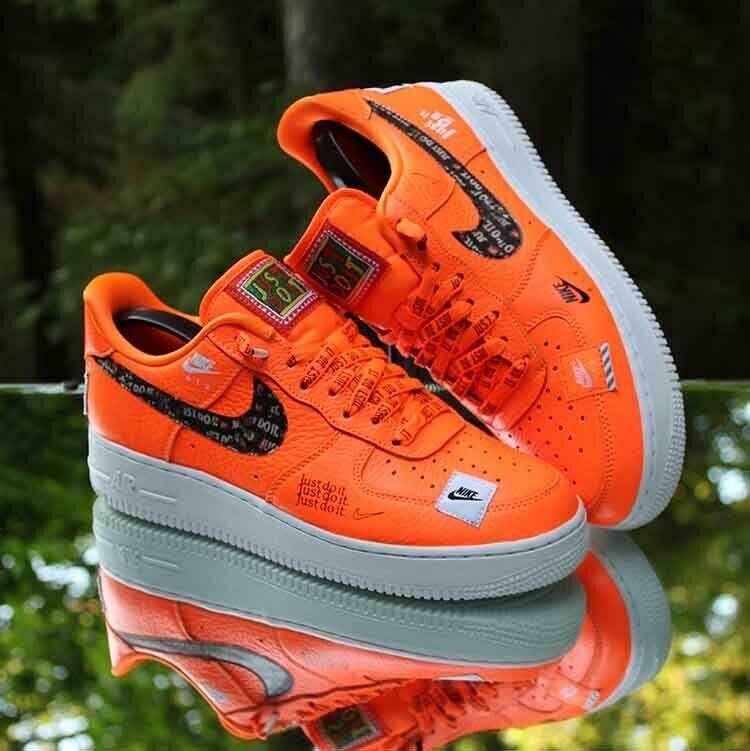 Nike Air Force 1 Low Prm Just Do It Men S Size 8 Total Orange