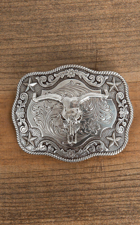 YONE Longhorn Bull Cowboy Western Big Belt Buckle Golden Boucle de ceinture