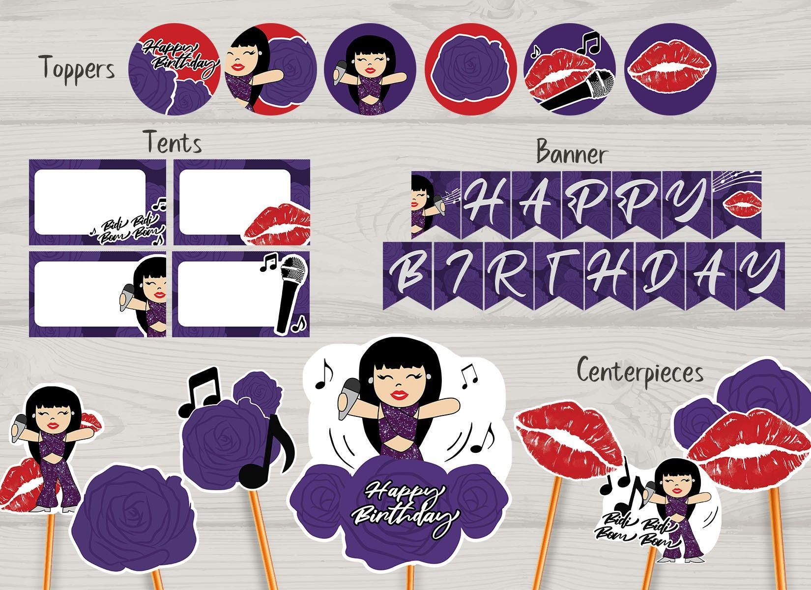 Selena Party Pack in 2020 Selena quintanilla birthday