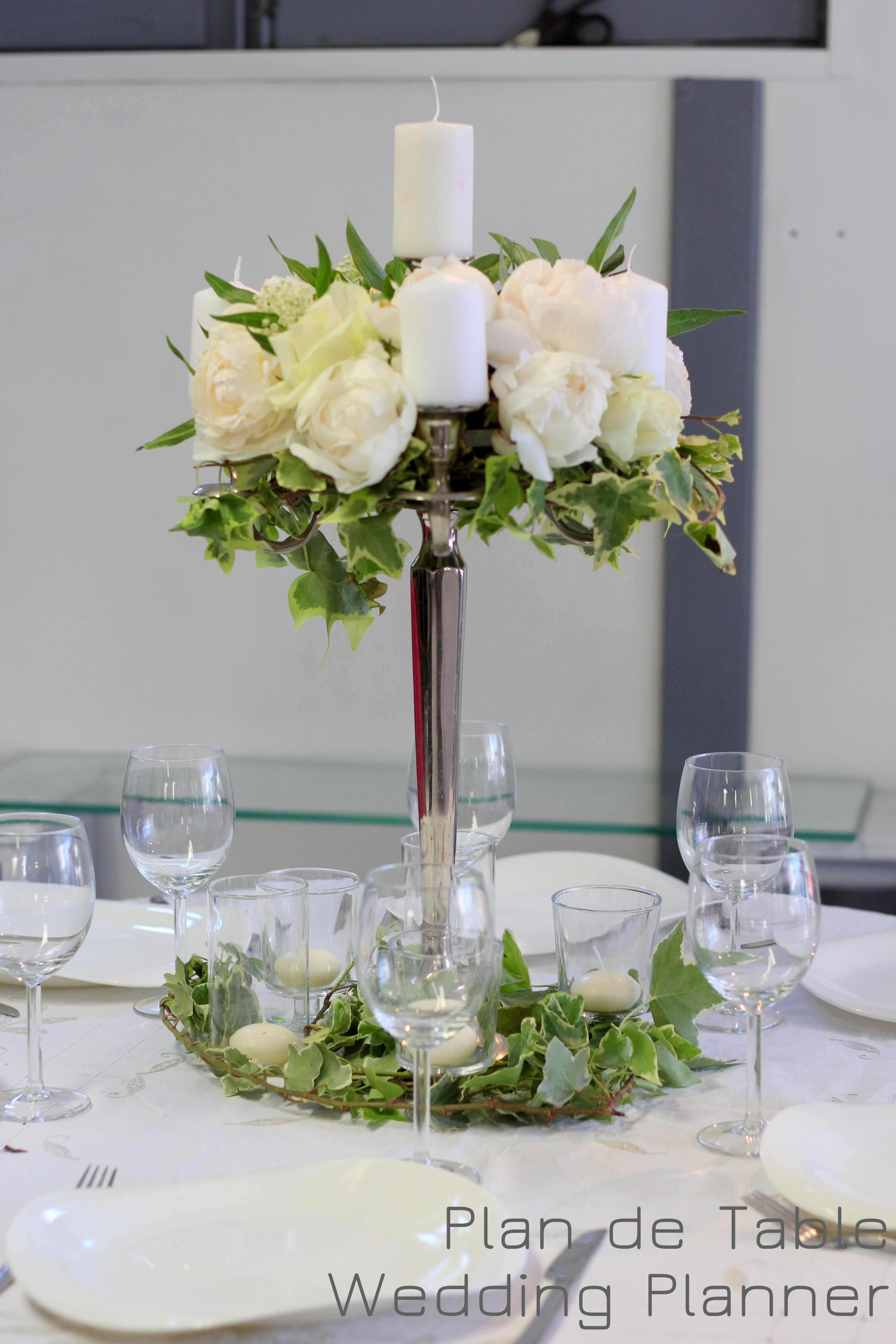 Composition De Fleurs Pour Table De Mariage