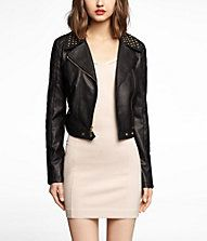 Black Jacket. full length sleeves. open neck, not clasp at the neck. Motorcycle look.