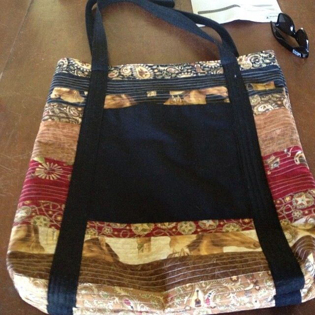 Large tote bag from a jelly roll