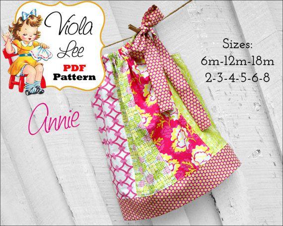 Annie Pillowcase Dress Pattern. Girls Dress Pattern. Toddler Pattern ...