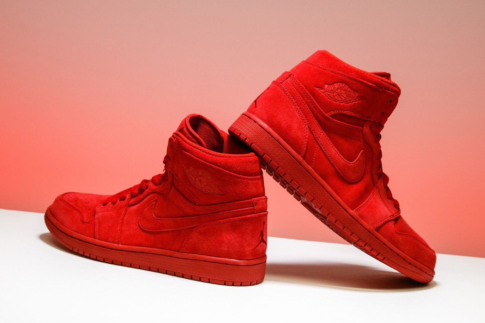 b1e1b5a7c46a The Air Jordan 1 Retro High receives a tonal red makeover for this