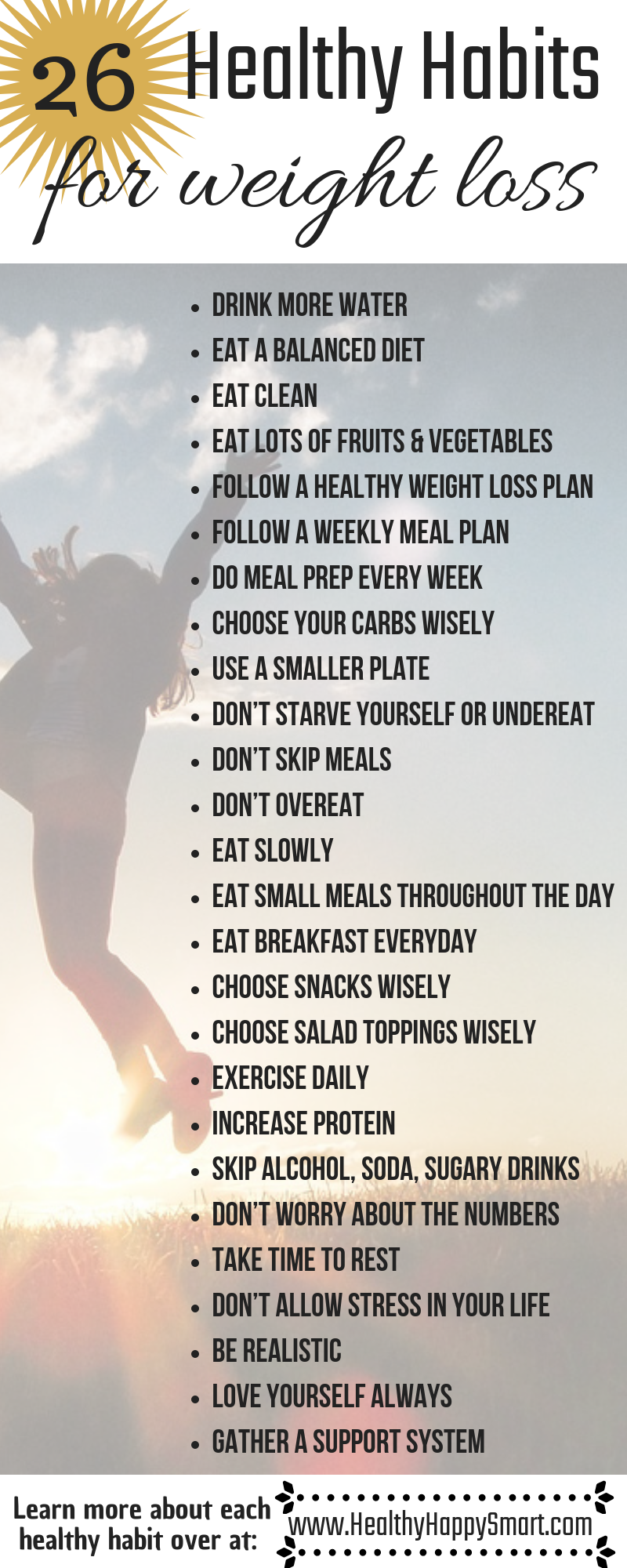 Lose Weight Naturally • 26 Healthy Habits Lose weight naturally with these 26 healthy habits -