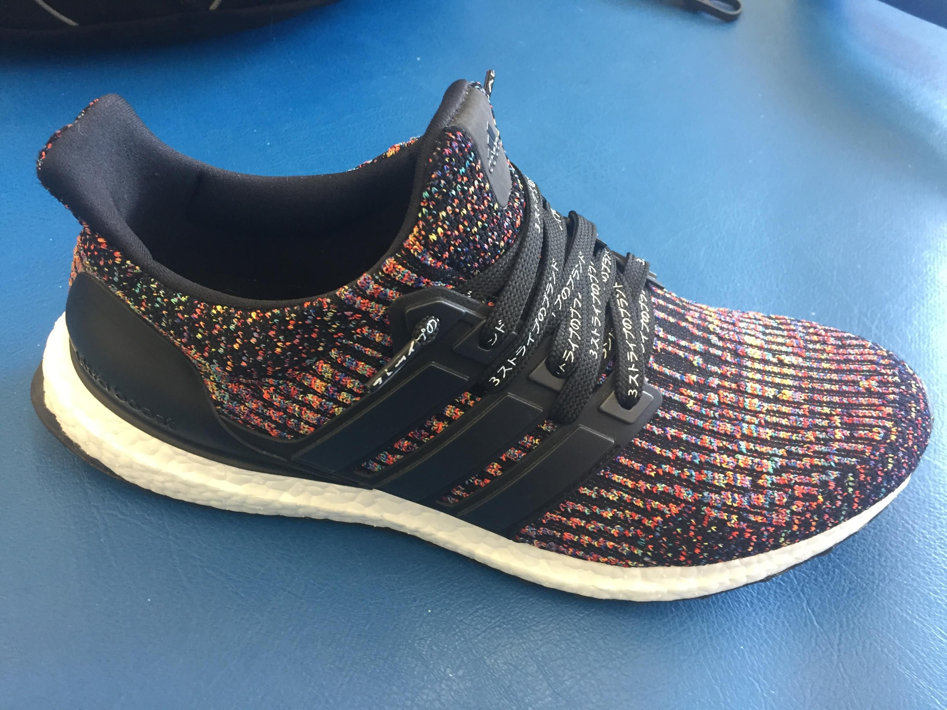 Multicolored UBS with Katakana laces. (They were out of the red/black  laces. Nike SneakersBlack ...