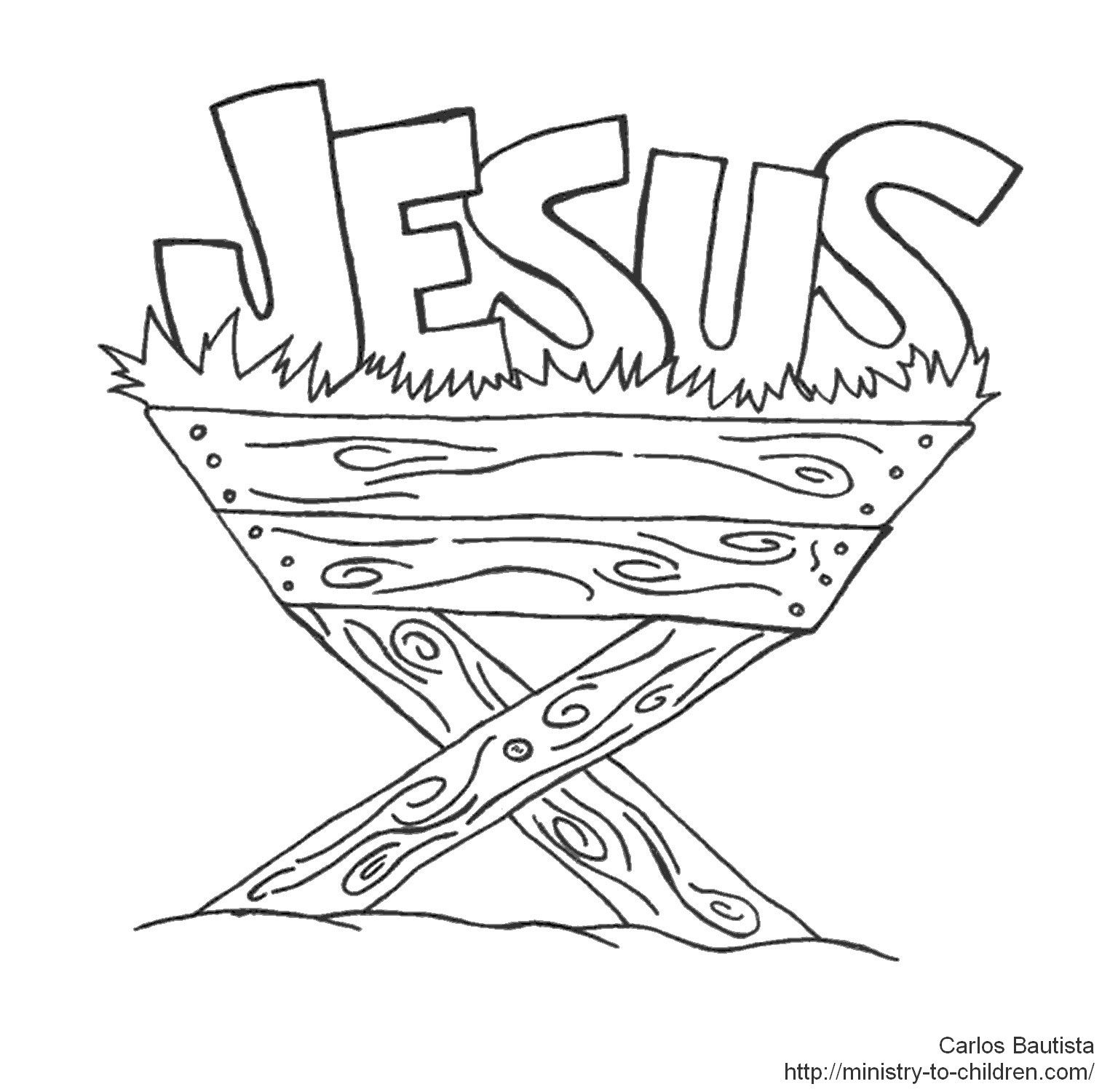 Jesus In Manger Coloring Page Jesus Coloring Pages Nativity