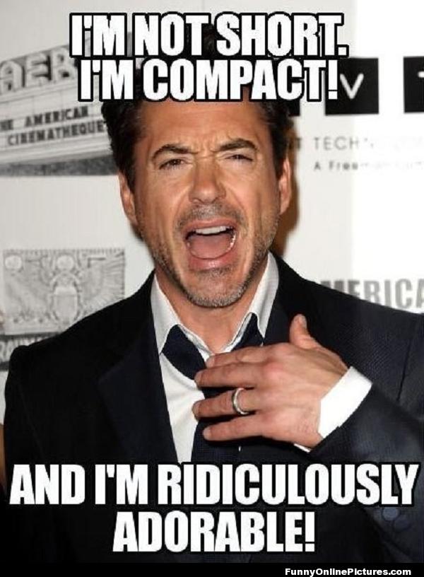 I M Compact Robert Downey Jr Celebrity Meme Funnypic Lol Robert Downey Jr Downey Junior Short Girl Problems