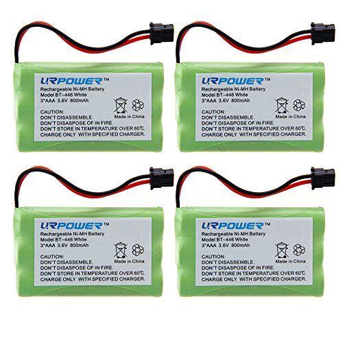 Urpower 4 Pack 3 6v Ni Mh 800mah Cordless Home Phone Battery For Uniden Bt 446 Bp 446 Bt 1005 Bt1005 Dct646 Dcx770 Dxc700 Tru8885 Tru8885 2 Tru88852 Tru8888 Tr