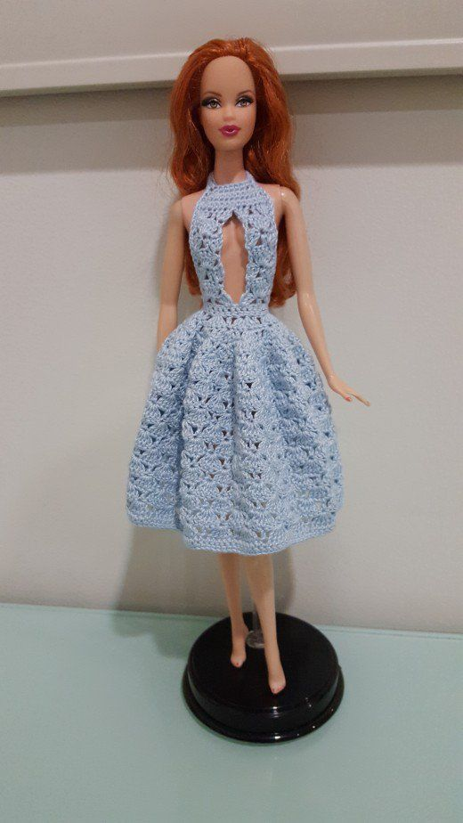 Barbie Sexy Cleavage Dress (Free Crochet Pattern) | Barbie, Vestido ...