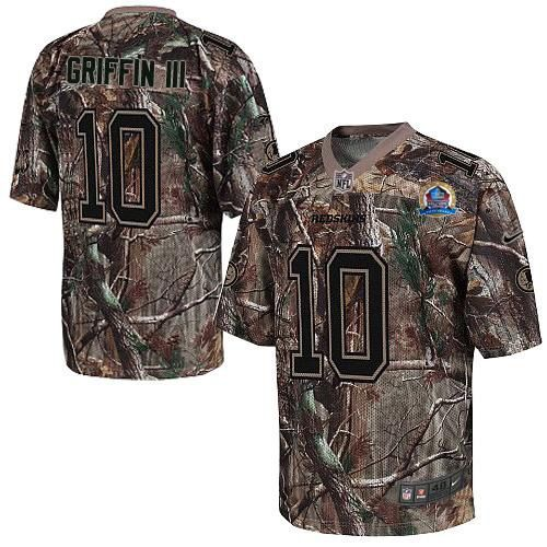 Discount NEW Redskins #10 Robert Griffin III Camo With Hall of Fame 50th  for sale