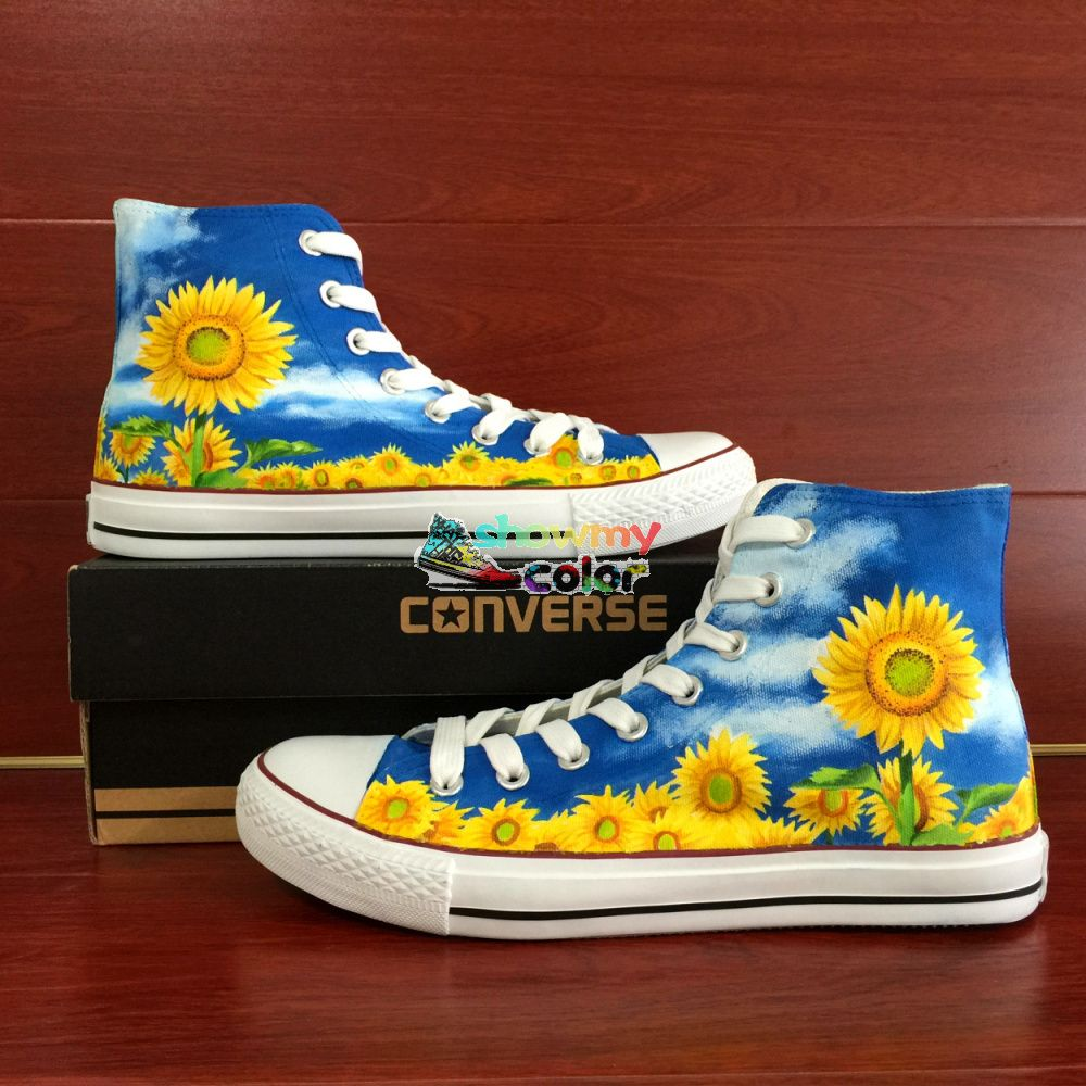 Sneakers Hand Painted Flowers High Tops Google Search