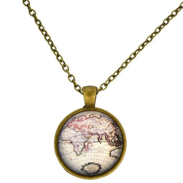 World map necklace geek stuff in general pinterest map world map necklace gumiabroncs Choice Image