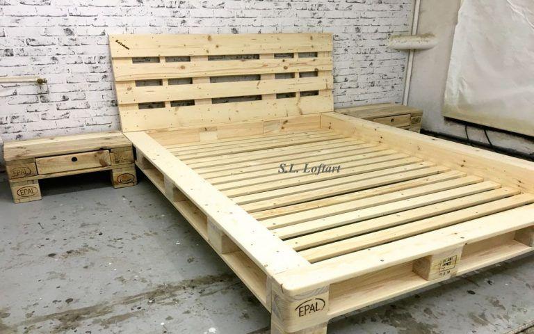 Palettenbett Diy Bett Aus Paletten Mit Lattenrost Epic Ikea Kopfteil Bett Palette Bett Aus Paletten Bett Selber Bauen Anleitung Europaletten Bett
