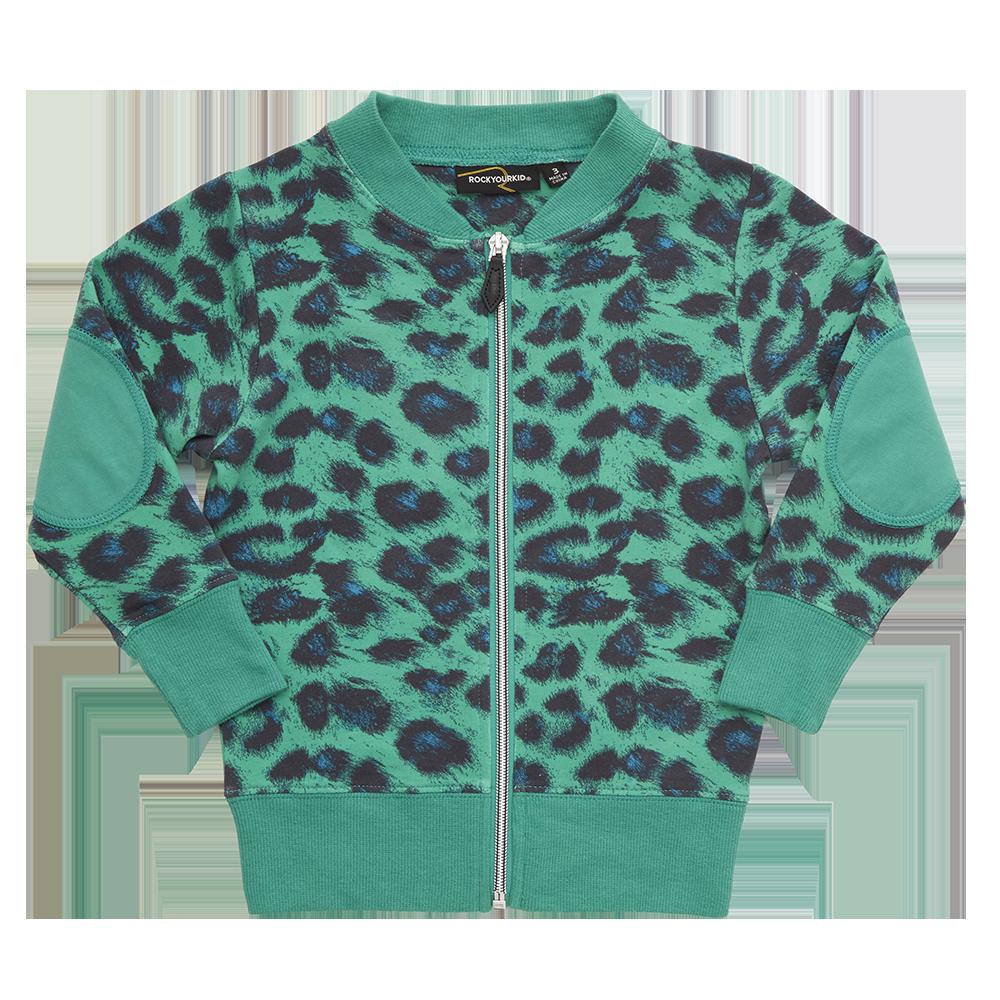 Rock Your Baby - Green Leopard Zip Cardigan | Rock Your Baby ...