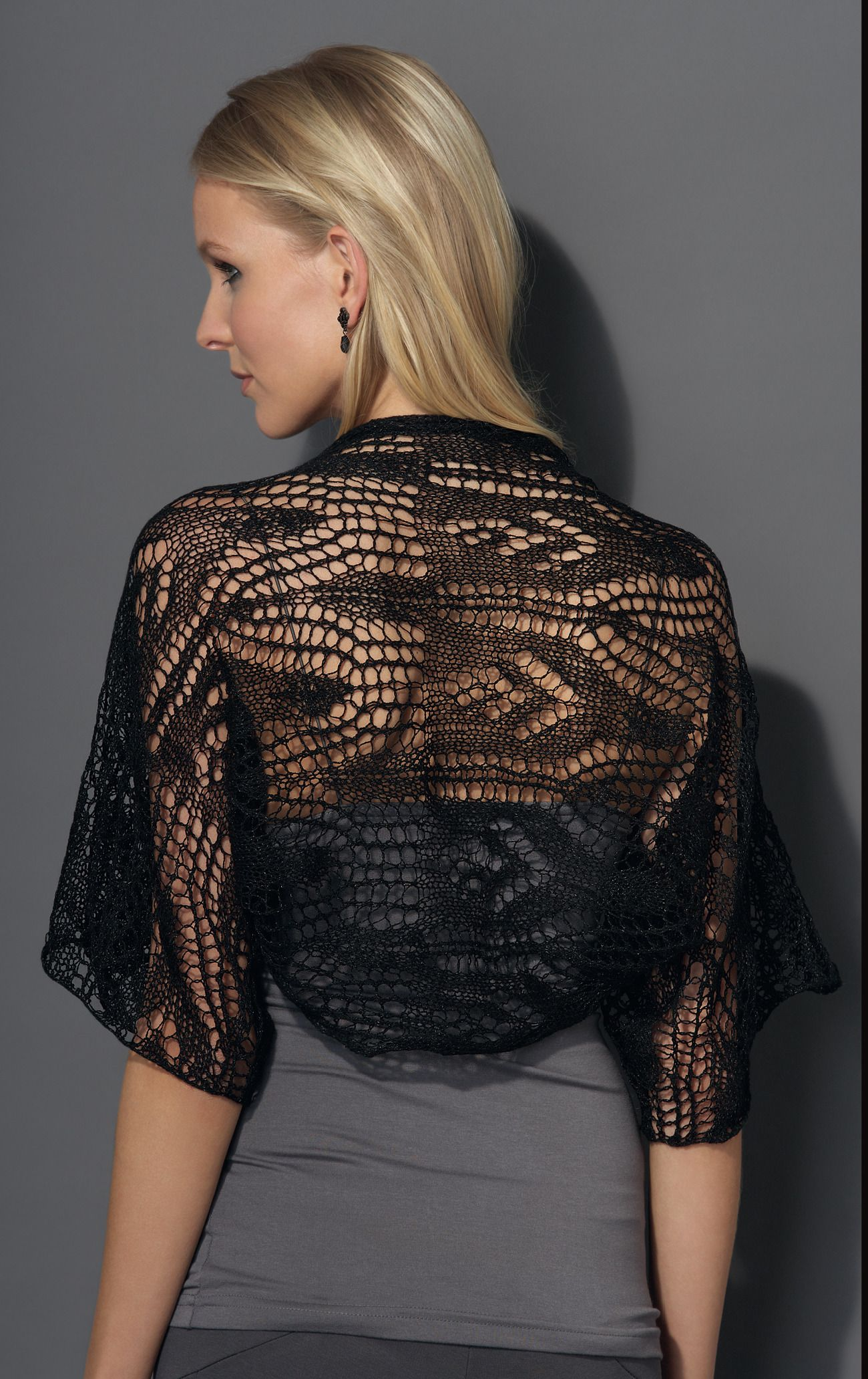 Bolero in Katia Inox Lace - Downloadable PDF | Lace ...