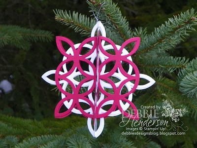 12 Days of Christmas Ornaments Day 2! Stampin' Up! products by Debbie Henderson, Debbie's Designs.