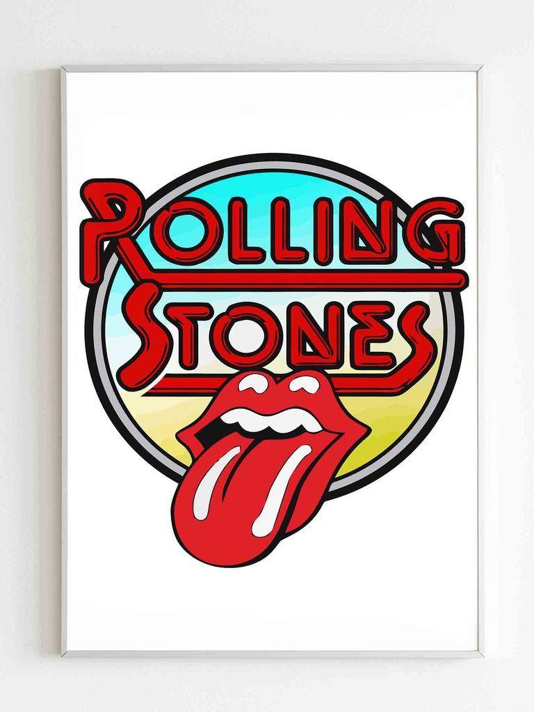Rolling Stones Band Rock Logo Poster en 2020   Adornos ...