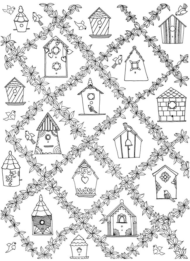 Creative Haven Whimsical Gardens Coloring Book COLORING PAGE 3 ...