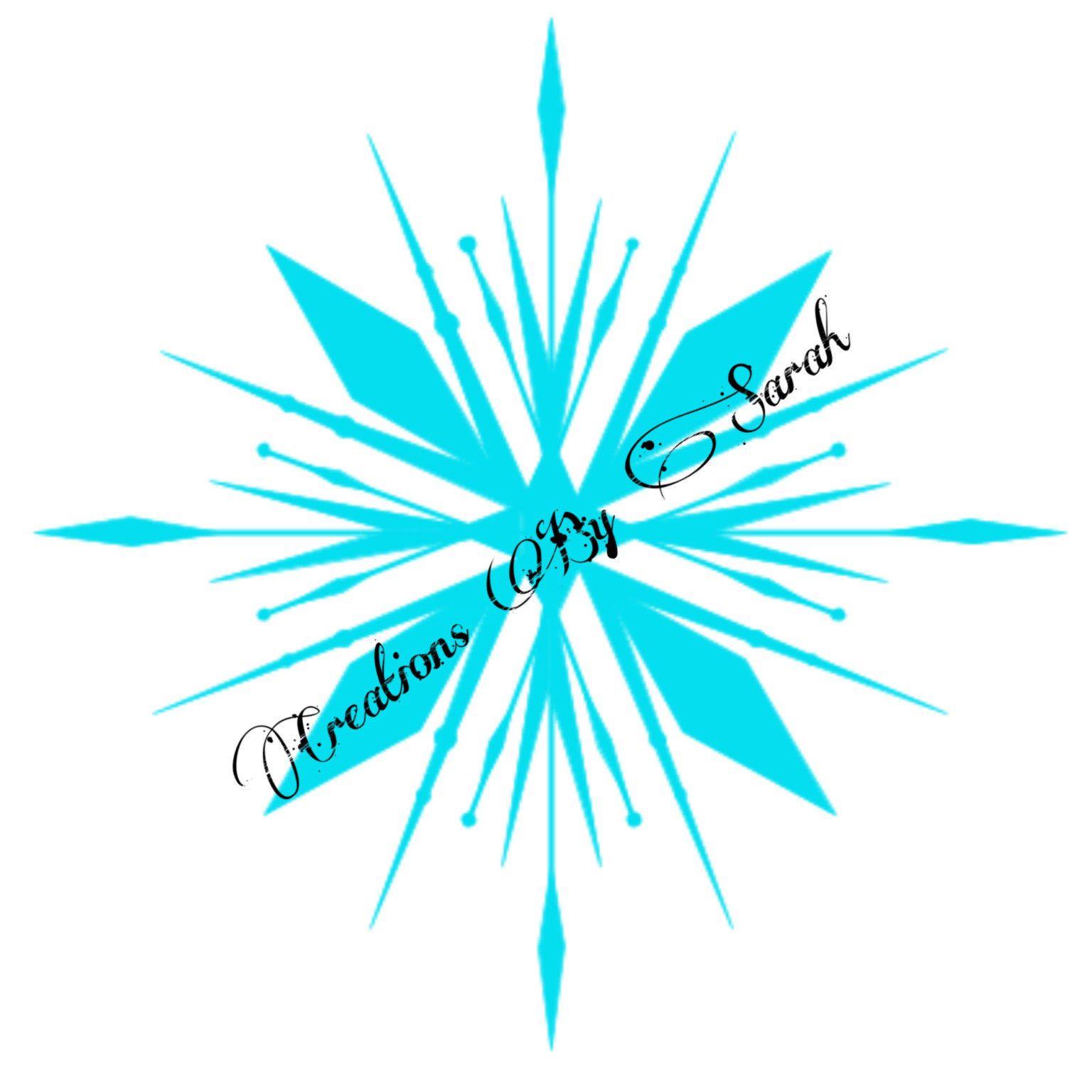 Frozen Princess Snowflake digital download SVG in 2020
