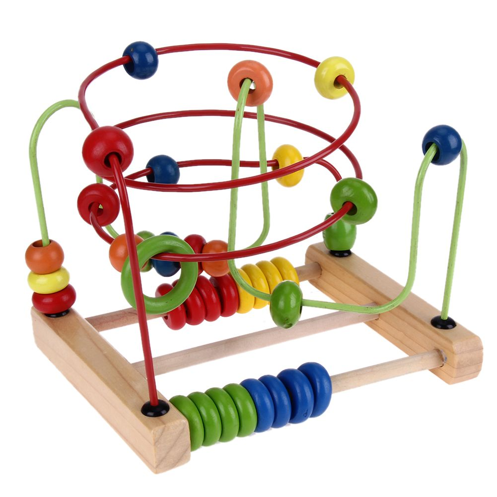 Baby with toys images  Baby Learning Early Education Wooden Toys Counting Circle Bead