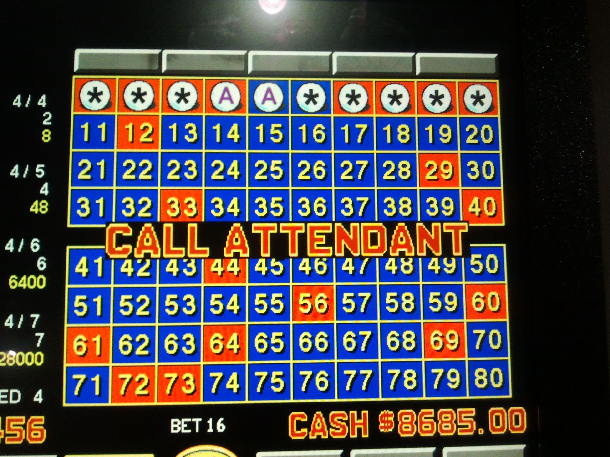 Keno 7 spot for 8k casino jackpot bonus
