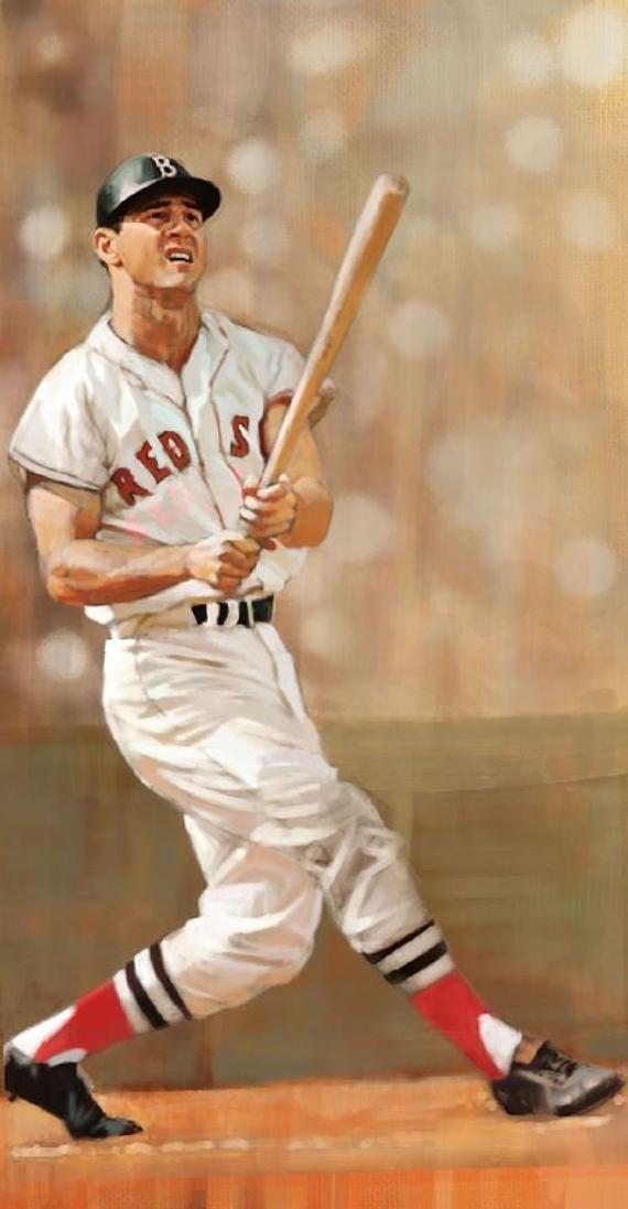 Photo of CARL YASTRZEMSKI painting  Boston Red Sox  Vintage Baseball | Etsy