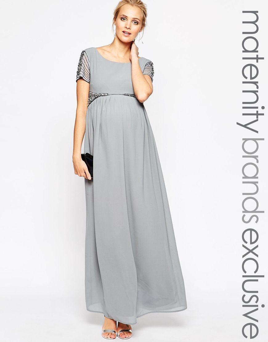 f68ce41cca31f Maya Maternity Maxi Dress With Embellished Waist PERFECT maternity dress  for my studio! ASOS