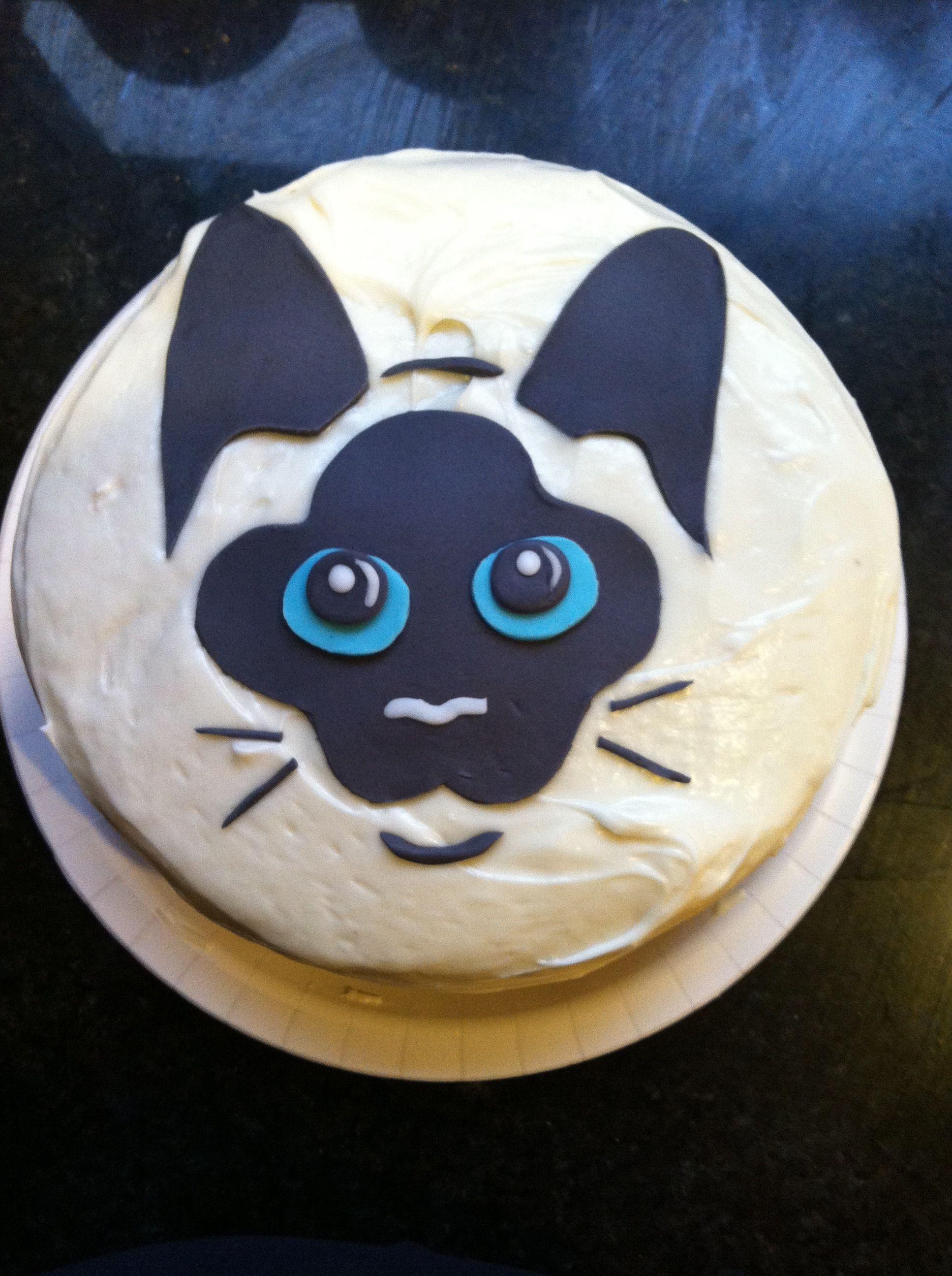 Siamese Cat Cake My Cake Creations Pinterest Siamese Cake