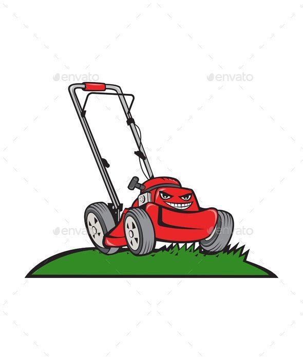 Lawnmower Front Isolated Cartoon Lawn Mower Cartoon Styles